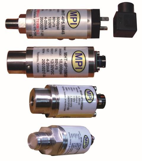 MPI industrial pressure transducers and transmitters