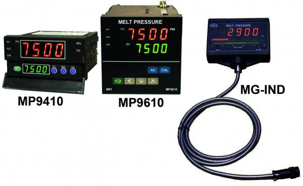 Melt Pressure indicators with alarms