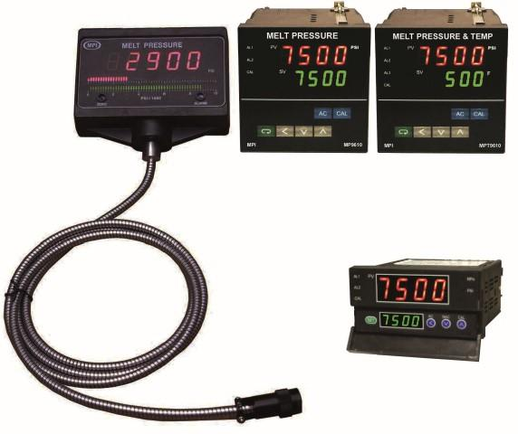 Melt Pressure indicator and controllers with alarms