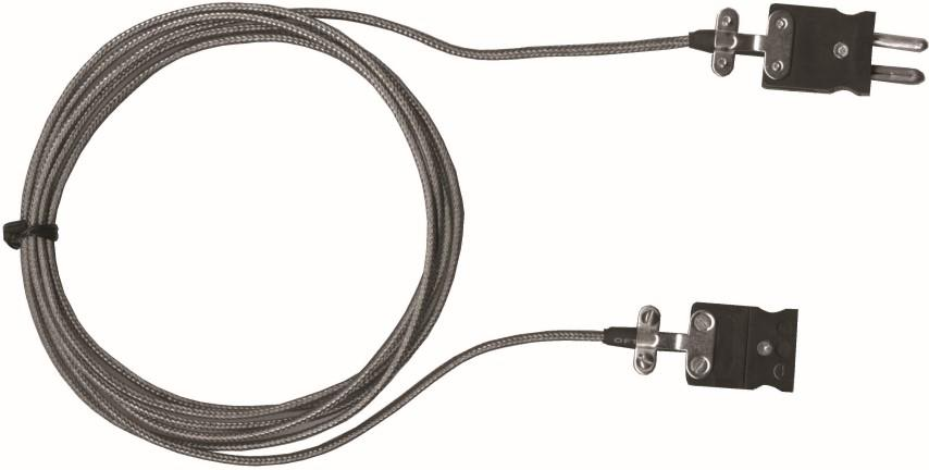 T/C J extension, Female-plug, 12ft F/G +S/S Braid, fork-terminal