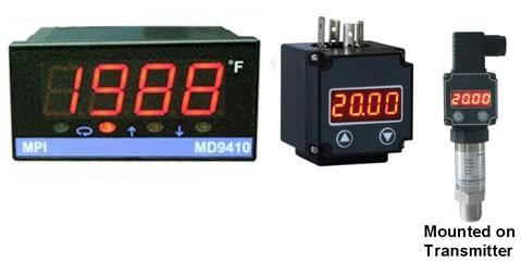 T/C, RTD, 4-20mA and 0-10VDC Temperature and Process Indicators