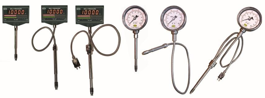 MPI Digital and Mechanical Melt Pressure Gauges