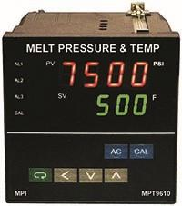 MPT9610 Dual Melt Pressure and Temperature Indicators with alarms
